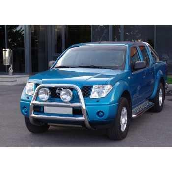 Big bar 76 mm inox Nissan Navara D40 2006-2014