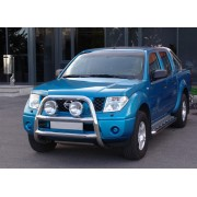 Big bar 76 mm inox Nissan Navara D40 2006-2014