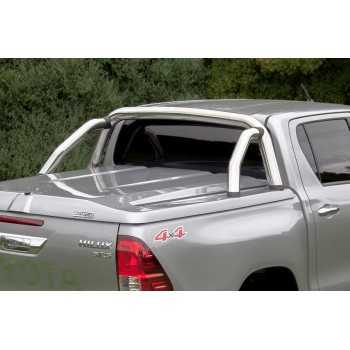 Roll bar inox double tube Ø70 pour TANGO SYSTEM Toyota Hilux 2016+ 4 portes