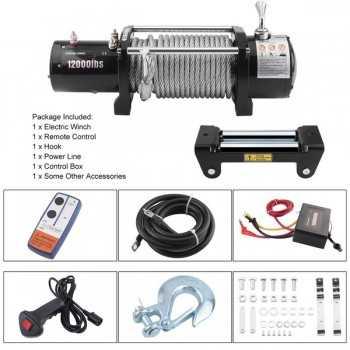Treuil électrique 12 Volts 5443 kgs 12000 Lbs