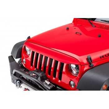 Visiere de calandre rouge Jeep Wrangler JK 2007-2018