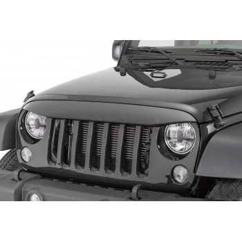 Visiere de calandre noire Jeep Wrangler JK 2007-2018