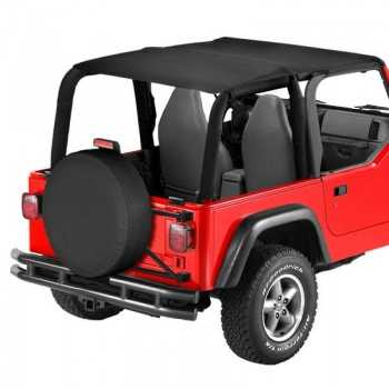 Bikini® Tops Safari noir Jeep WranglerTJ 2003-2006