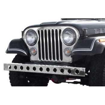 Pare choc avant inox avec trous Jeep CJ 1955-1986