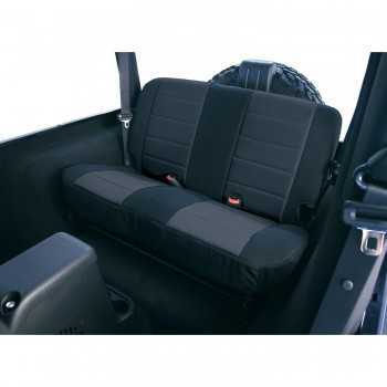 Housse de banquette arrière néoprène noir Jeep CJ-Wrangler 1980-1995