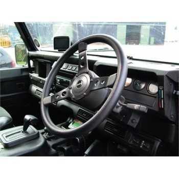 Volant cuir noir diamètre 38 cm Spécial Land Rover 1983-2015