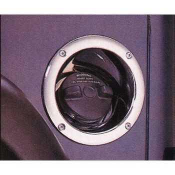 Enjoliveur de bouchon de reservoir plastique chromé Jeep Wrangler TJ 1997-2006