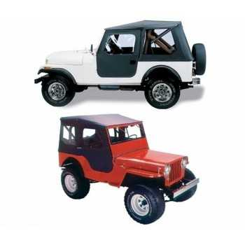 Capotage Bestop® noir Tigertop  Jeep CJ5 1955-1975  et M38A1 1951-1962