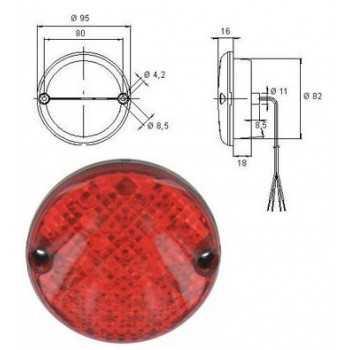 Feu antibrouillard arrière a LED 12 V