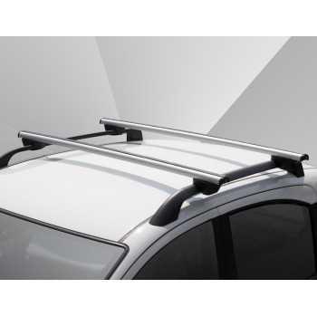 Barres de toit AERO-RAILING Nissan Pathfinder avec railing 2005-