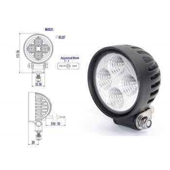 Projecteur de travail à LED rond 700 LUMENS 12 -24 Volts