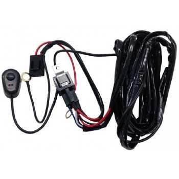 Faisceau avec fusible, relais, interrupteur pour barre a led