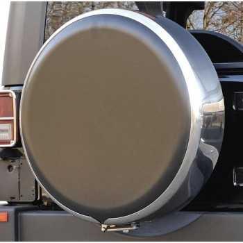 Disque de protection en ABS noir pour couvre roue diam: 81cm