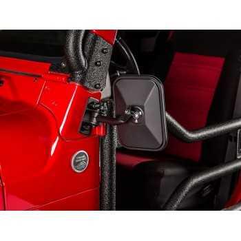 Rétroviseur noir rectangulaire Jeep Wrangler 1997-2018