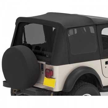 Fenêtres teintées Bestop® noir brillant  Jeep Wrangler TJ 1996-2002