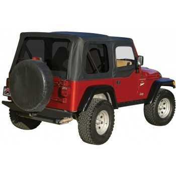 Capotage de remplacement noir Jeep Wrangler TJ 1997-2006