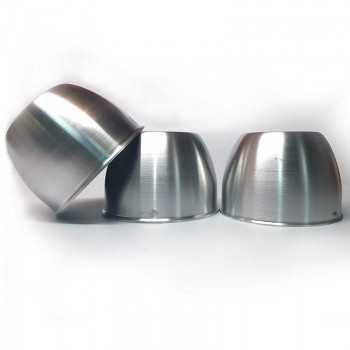 Cache moyeu fermé Aluminium poli diamètre 95mm hauteur 67 mm