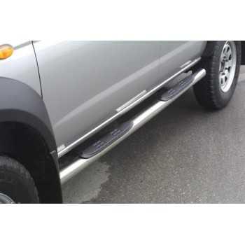 Marche pieds inox diam.76 mm Nissan Navara D22 2002-2005 2,5 TD 4 Portes