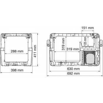 Poids et dimensions -Largeur: 398 mm -Poids: 17,5 kg