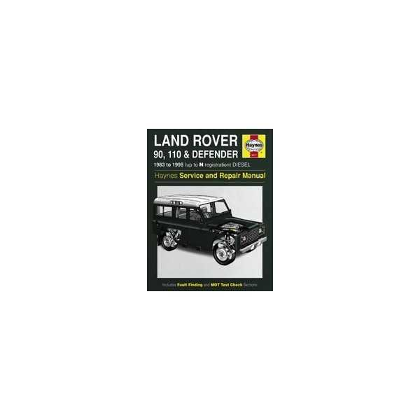 Revue automobile HAYNES LAND ROVER 90 (83-95)