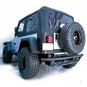 Pare chocs arriere noir mat Jeep Wrangler YJ ET TJ 1987-2006