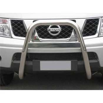 Big bar 63 mm inox Nissan Navara D40 2006-2010