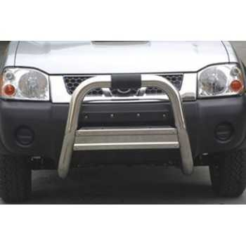 Big bar 76 mm inox Usage Hors Route Nissan Navara D22  2002-2005