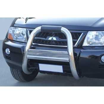 Big bar 76 mm inox usage hors route Mitsubishi PajeroDID 2000-2006