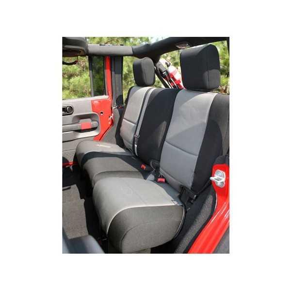 Housse de siege arriere grise Jeep Wrangler JK 2007-2018 4 Portes