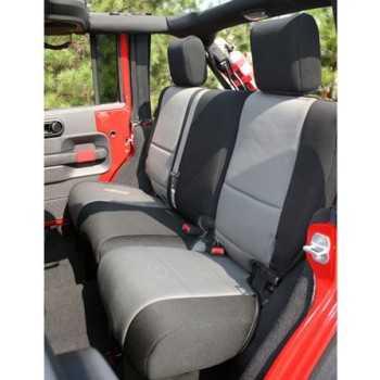 Housse de banquette arrière grise Jeep Wrangler JK 2 Portes 2007-2018
