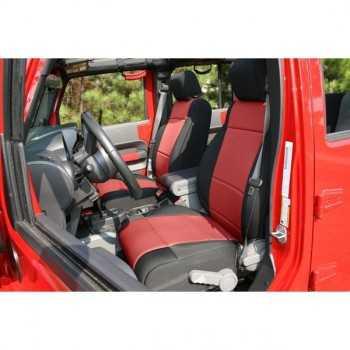 Housse de siege avant rouge Jeep Wrangler JK 2007-2010 avec ou sans ABS