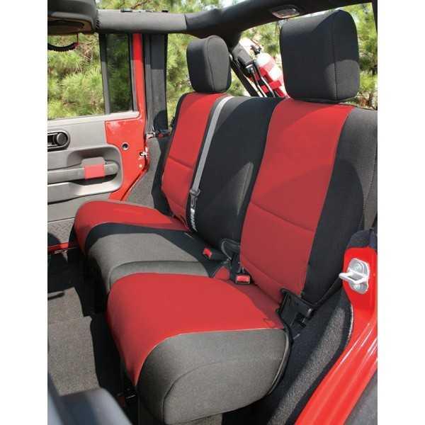 Housse de banquette arrière rouge Jeep Wrangler JK 4 Portes 2007-2018