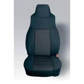 Housse de siège avant coton noir Jeep Wrangler TJ 1997-2002