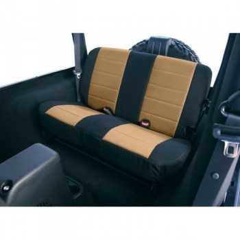 Housse de banquette arrière néoprene noir/beige Jeep Wrangler TJ 2003-2006