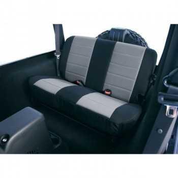 Housse de banquette arrière néoprene noir/gris Jeep Wrangler TJ 2003-2006