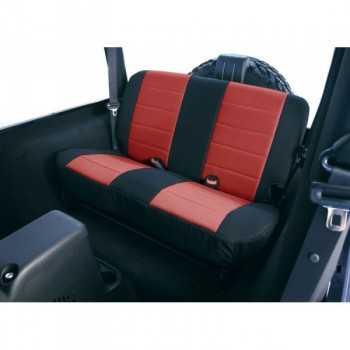 Housse de banquette arrière néoprene noir/rouge Jeep Wrangler TJ 2003-2006