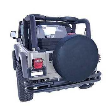Housse de roue unie noire diamètre 72 cm