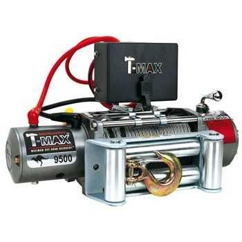 Treuil T-MAX EW 9500 4532 Kg 12 VOLTS Télécommande filaire de 3,7mètres