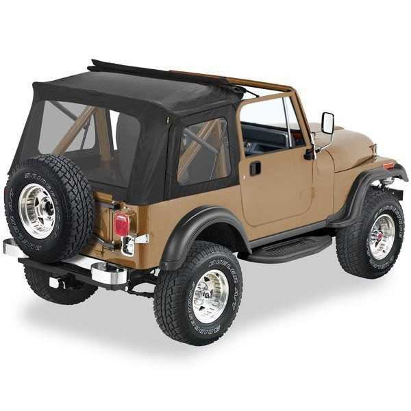 Capotage complet Pavement Ends Flip Top noir Jeep CJ & Wrangler 76-95