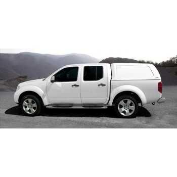 Hard top blanc s/vitres latérales Nissan Navara D40 4 portes
