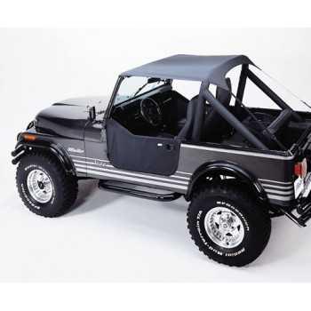 Bikini® Tops Bestop® noir Jeep CJ 7 76-86, CJ 8 Scrambler & Wrangler 1976-1991