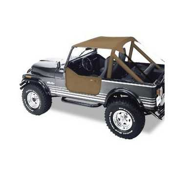 Bikini® Tops brun Jeep CJ 7,76-86 CJ 8 Scrambler & Wrangler 76-91