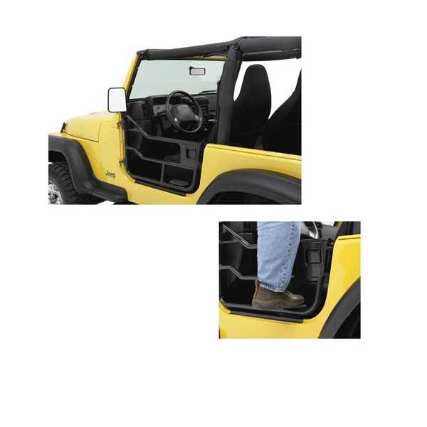 Demi portes noire Jeep Wrangler JK 2007-2018