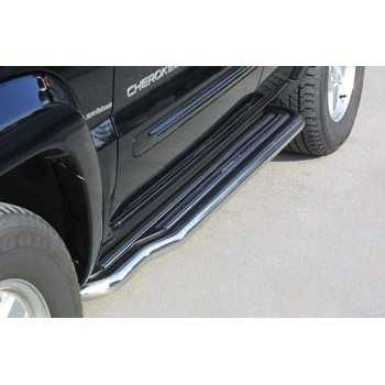 Marche pieds inox 50 mm Jeep Cherokee Liberty 2001-2007