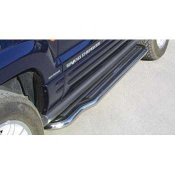 MARCHE PIEDS INOX 50 MM JEEP GRAND CHEROKEE 99-2005