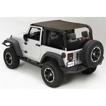 ISLAND TOPPER SOFT TOP KAKI JEEP JK 07-09 2 PORTES