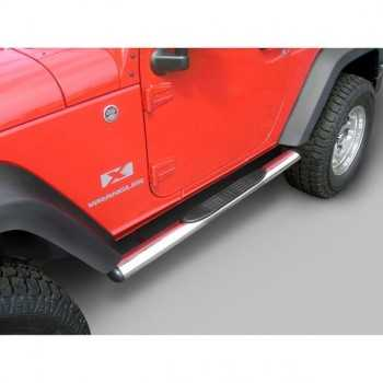 MARCHE PIEDS INOX OVAL JEEP WRANGLER JK 2 Ptes 2007-2018