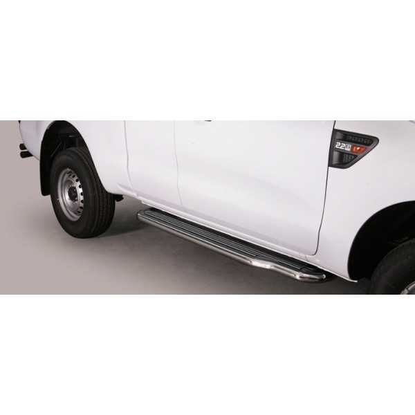MARCHE PIEDS INOX 50MM FORD RANGER 2012- 2 Ptes