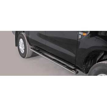 Marche pieds inox ovale FORD RANGER 2012- 4 Ptes