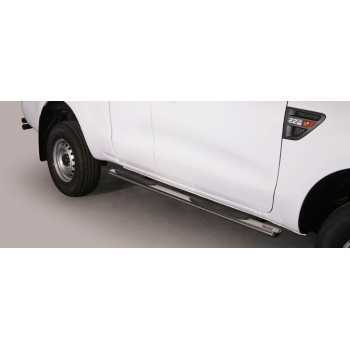 MARCHE PIEDS INOX OVAL FORD RANGER 2012- 2 Ptes